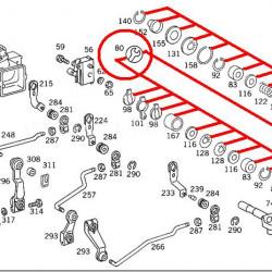 Ремкомплект кулисы MERCEDES BUS T1, T2  207-410D A6012605182