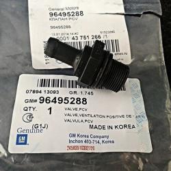 Клапан вентиляции картера CHEVROLET 96495288
